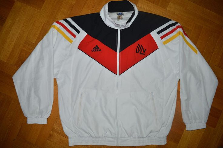 "Great Adidas DLV National TEAM Germany Olympic WARM UP TRAINING JACKET, with full zip and 1 front and 2 side zip pockets. Rare to find jacket. Nice color scheme. sleeve ( armpit -cuff) 57 cm / 22.4 "" -- (neck-cuff) 87 cm / 34.2"". 