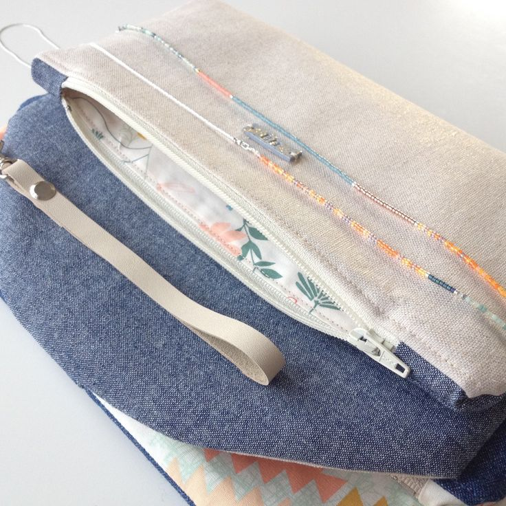 New fold over pouches match perfectly with long layering summer necklaces