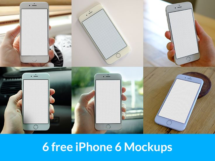 6 iPhone 6 Mockups by Alex Byrne