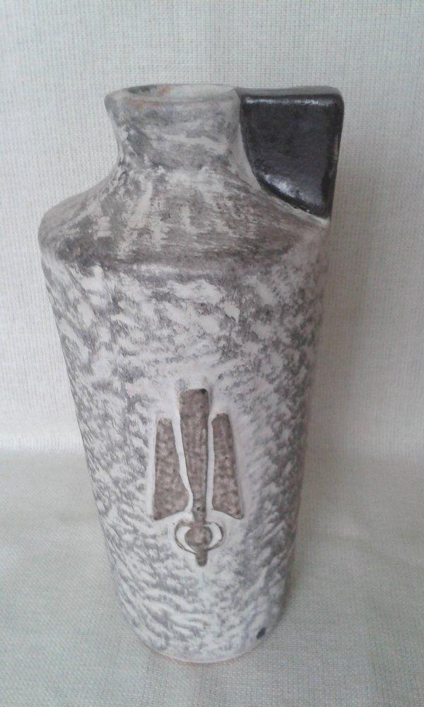 ART DECO KŐ HATÁSÚ MATT MÁZAS KERÁMIA VÁZA - Kerámia | Galéria Savaria online piactér - Antik, műtárgy, régiség vásárlás és eladás