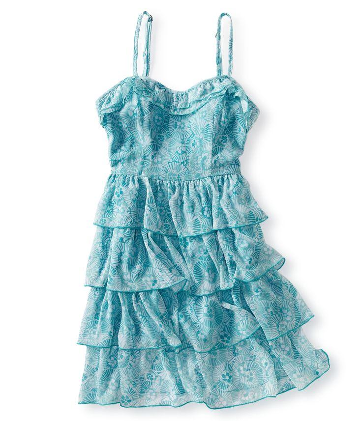 aeropostale womens chiffon ruffled woven dress | eBay