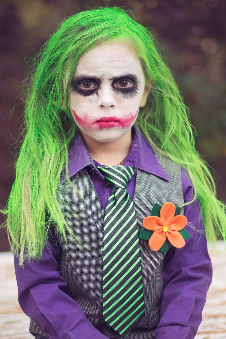 My daughter dressed as the joker for Halloween Kids