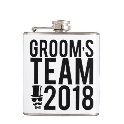 Groom's team 2018 hip flask - wedding decor marriage design diy cyo party idea