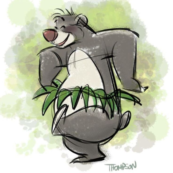 Forget about your worries and your strife. Quick sketch - Baloo.