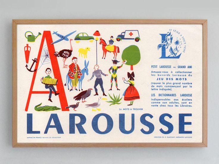 French Blotter Alphabet (1960s)