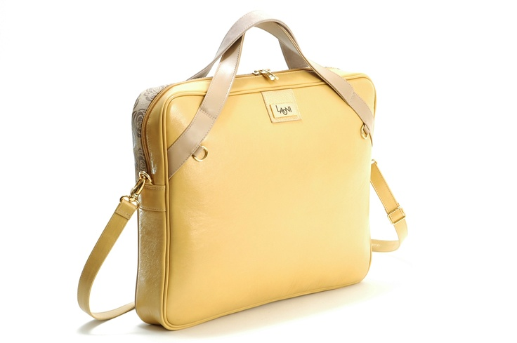 yellow - beige notebook bag www.laoni.hu