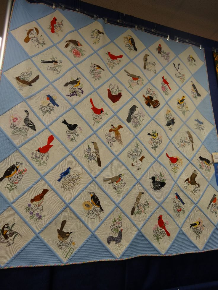 12 Best State Bird Amp Flower Quilts Images On Pinterest