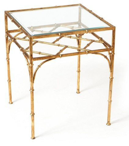 Woodmont Glass-Top Side Table, Gold Now: $199.00   Was: $335.00