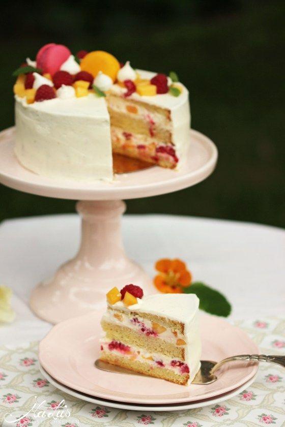 Pfirsich Melba Torte
