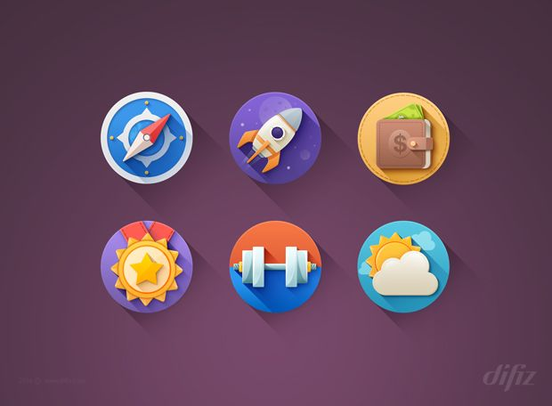 Free Download : Awesome Fresh Flat Icons