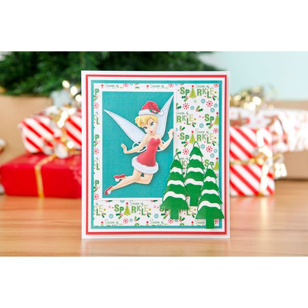 Disney Tinker Bell Christmas Shine like a Star Die and Face Stamp No Colour