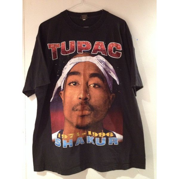 Reserved for Mimi VTG 90's Oversize Hip Hop Black TuPac T-Shirt (XL) ($183) ❤ liked on Polyvore featuring tops, t-shirts, shirts, tupac, cuff shirts, vintage t shirts, t shirts, vintage tee-shirt and cuff sleeve shirt