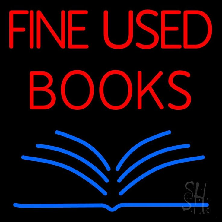 Red Fine Used Books Neon Sign 24 Tall x 24 Wide x 3 Deep, is 100% Handcrafted with Real Glass Tube Neon Sign. !!! Made in USA !!!  Colors on the sign are Red and Blue. Red Fine Used Books Neon Sign is high impact, eye catching, real glass tube neon sign. This characteristic glow can attract customers like nothing else, virtually burning your identity into the minds of potential and future customers.