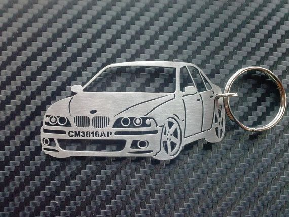 BMW e39 Personalized Key Chain / Keychain by GuestFromThePast