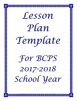 FREE 2017 2018 Broward Florida Lesson Plan Template Editable Schedule Outline Just wanted to share this in case any other BCPS teachers were interested. It's the lesson plan outline I make for myself based on our calendar for the upcoming school year.