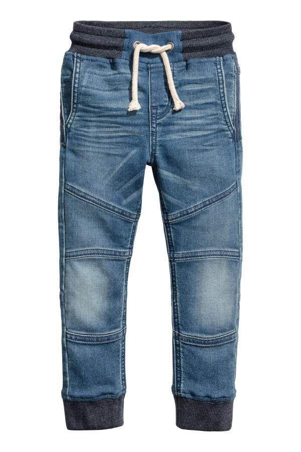 H M Super Soft Denim Joggers Kids Denim Jeans Kids Denim Kids Outfits