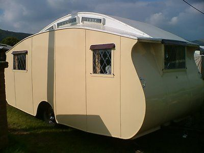 1930s English vintage trailer / caravan - Maybe Winchester or Gibson Eccles?