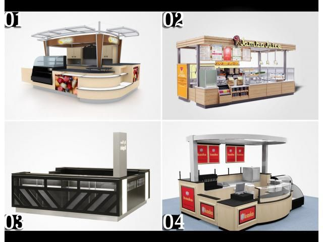 We provide madetoorder kiosks for the clients, providing