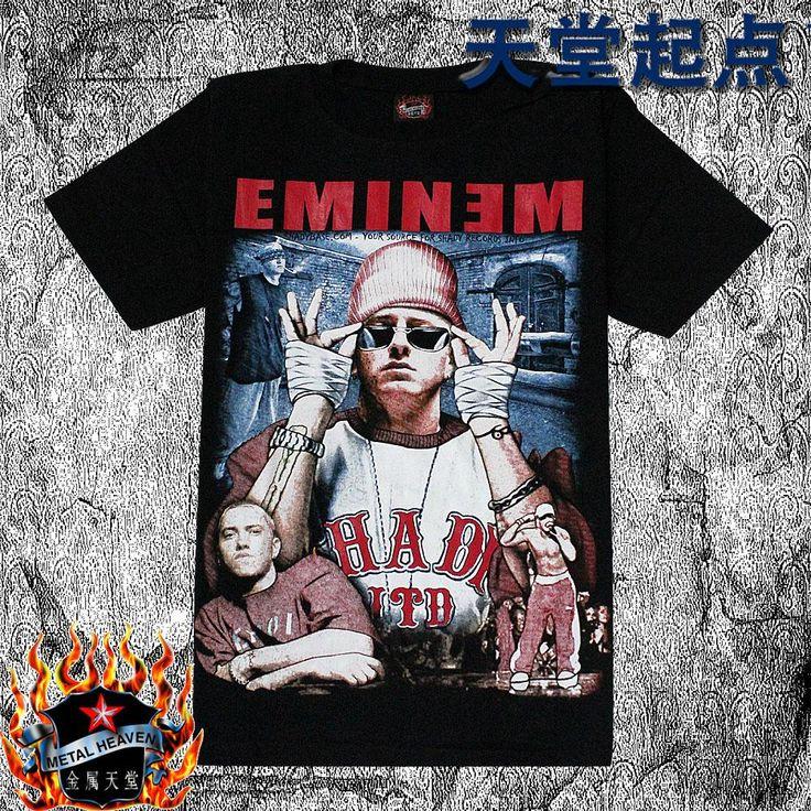 Летние мужчины рок короткие футболки о-образным вырезом персонализированные 100% хлопок голова портрет eminem 3d панк новинка тройник