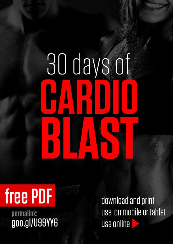 30 Days of Cardio Blast, there are 3 levels and no excuses :)