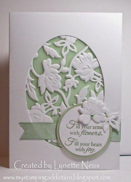 Anna Griffin Flower bramble die ; Cuttlebug Anna Griffin Rosa embossing folder