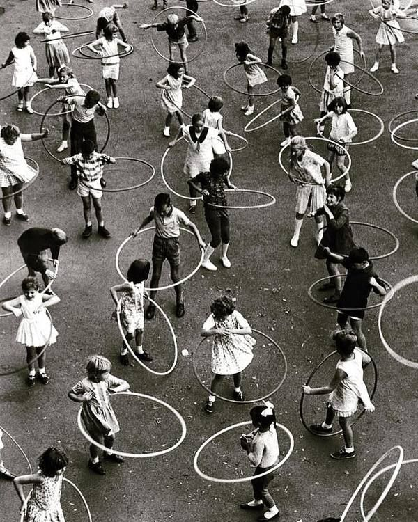 Hula Hooping Frenzy. We love this 1957 photo that captures just how crazy we all were for hula hooping for awhile!