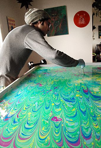 ebru paper | ... for months now- a GIGANTIC Ebru( turkish paper marbling) project