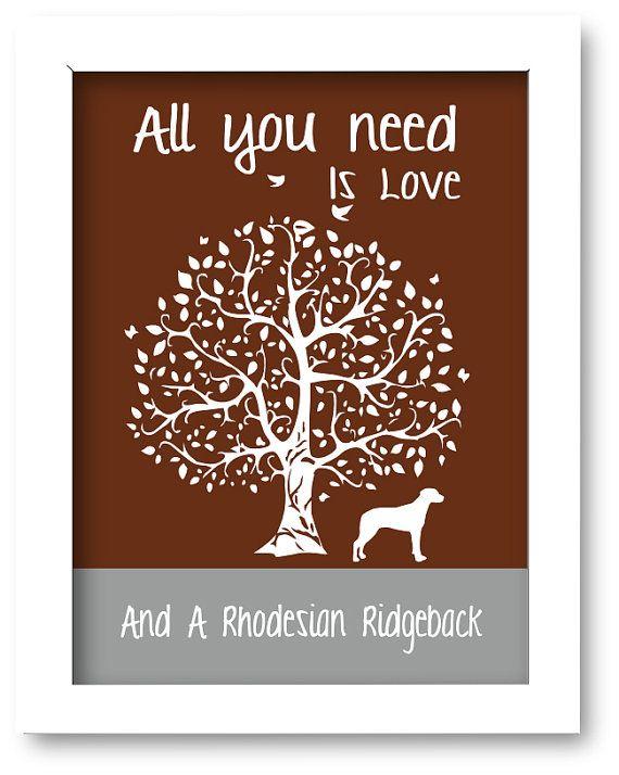Rhodesian Ridgeback Print Ridgeback Silhouette by DIGIArtPrints