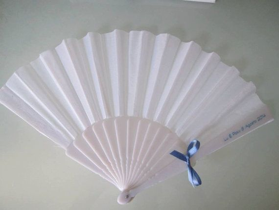 Personalized wedding hand fan with name and day ideal to use