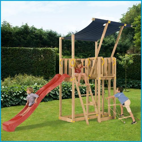 Wooden Climbing Frames - Blue Rabbit Mezzanine #wooden climbing frames for kids see more at www.woodenclimbingframe.co.uk