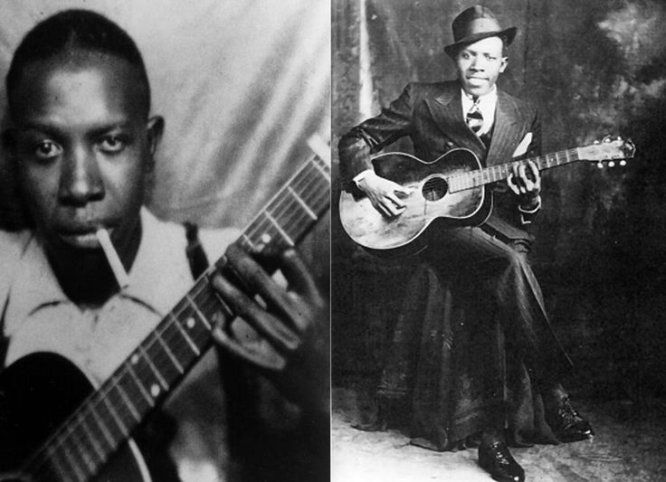 Robert Johnson ~ Born Robert Leroy Johnson May 8, 1911 in Hazlehurst, Mississippi, US. Died August 16, 1938 (aged 27) in Greenwood, Mississippi, US.   American singer-songwriter and musician. His landmark recordings in 1936 and 1937, display a combination of singing, guitar skills, and songwriting talent that has influenced later generations of musicians. Crossroad Blues ~ Robert Johnson  PLAY >>> www.youtube.com/watch?v=GsB_cGdgPTo