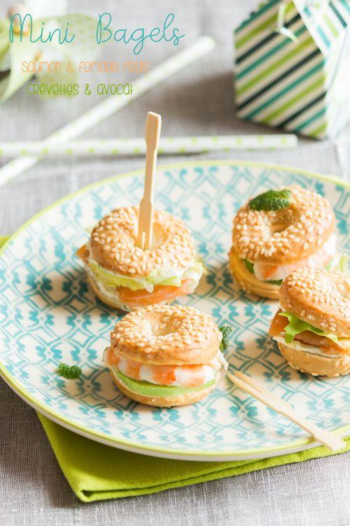 Moi, gourmande ?: Mini bagels pour l'apéritif