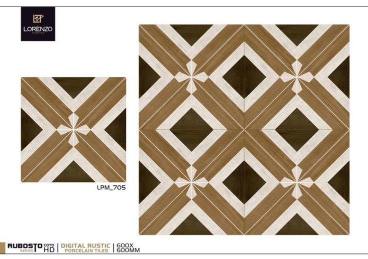 LPM_705 - Millennium Tiles 600x600mm (24x24) Digital #Rustic Matt Designer #Porcelain #Tiles Series  - Digital Tiles: Digital tiles will have a single coat of pigment nearly 1or 2 mm. It is not suitable for heavy traffic.As the name suggests, any design can be printed on this types of tiles or u can even customize the design of tile with ur photo or any picture.  - Glazed vitrified tiles (GVT) have a glazed surface. They offer a wide variety of design, art work and surface textures like wood…