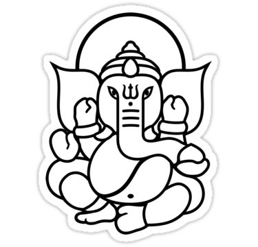 pics for simple ganesha face drawing - Outline Drawing For Kids