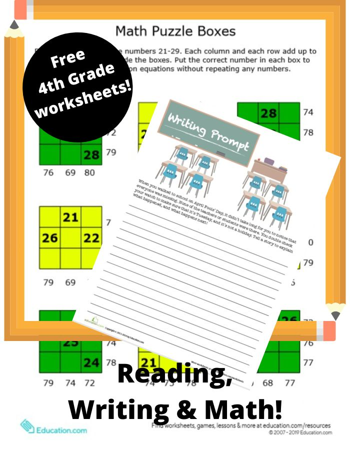 Free Printable 4th Grade Worksheets | Fun printables for ...