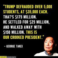 A fraudulent President. Well done American asshats; well done.