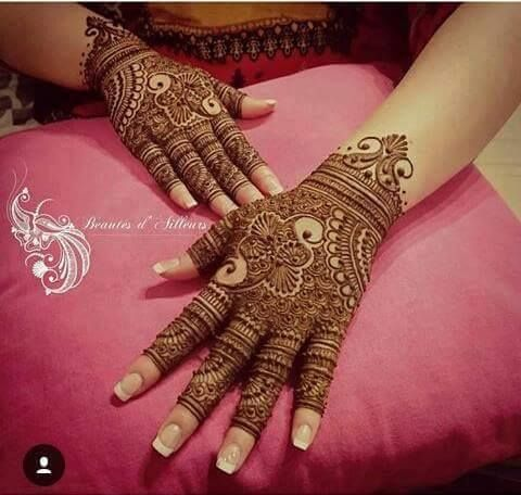 Latest Mehndi design images Photos Pic PDF Free Download For Full Hand Legs and Fingers