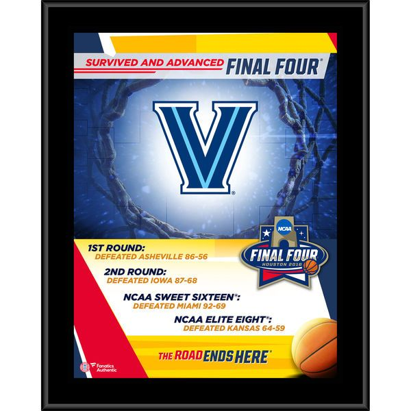 "Villanova Wildcats Fanatics Authentic 10.5"" x 13"" 2016 NCAA Men's Basketball Tournament Final Four Bound Plaque - $29.99"
