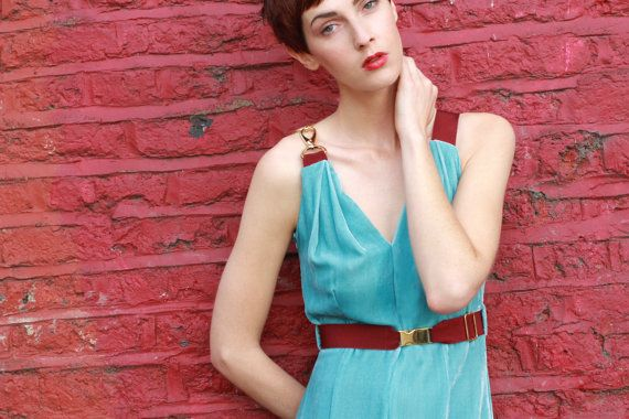 Severine Sky Blue Velvet Dress by annapopovich on Etsy