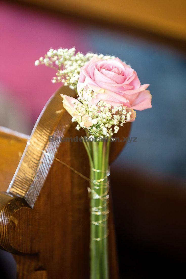 Tischdeko Hochzeit u2013 Hochzeitsdeko Kirche: 65 zauberhafte Kirchendeko-Ideen…