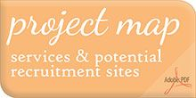 Project Map - services & potential recruitment sites (via St. Joseph's Care Group)
