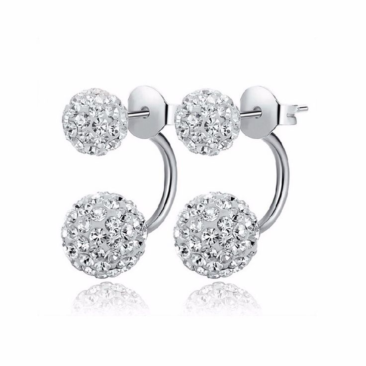 2016 New Fashion Shambhala Double Sided Sythetic Crystal Ball Stud Earrings for Women Wedding Jewelry Gift Wholesale E1752     Tag a friend who would love this!     FREE Shipping Worldwide     Get it here ---> https://worldoffashionandbeauty.com/2016-new-fashion-shambhala-double-sided-sythetic-crystal-ball-stud-earrings-for-women-wedding-jewelry-gift-wholesale-e1752/