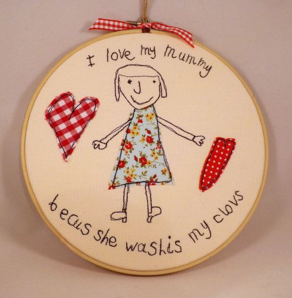 Your child's drawing in applique and machine by TheDogandtheMoon