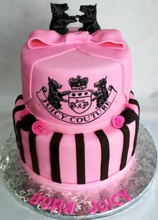 juicy couture cake! So Cute!!