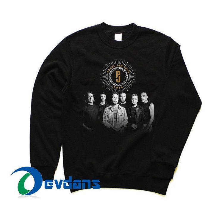 pearl jam tour 2016 Sweatshirt size S,M,L,XL,2XL,3XL