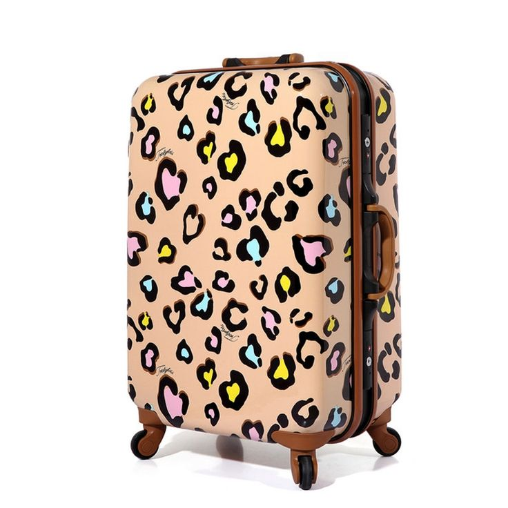 278.65$  Buy here - http://alif4b.worldwells.pw/go.php?t=1619009326 - New Women Suitcase Aluminum Frame Multicolour Leopard Print Rolling Luggage ABS+PC Universal Wheels Trolley Luggage Travel Bags 278.65$