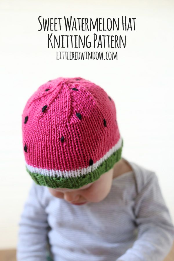 Knit a sweet watermelon hat for your baby or toddler with this free pattern! So I know, watermelon is a summery food. And knit hats are a wintery thing. But you know what, I don't know about where you live, but a lot of times, the air conditioning is out of control inside, especially in…