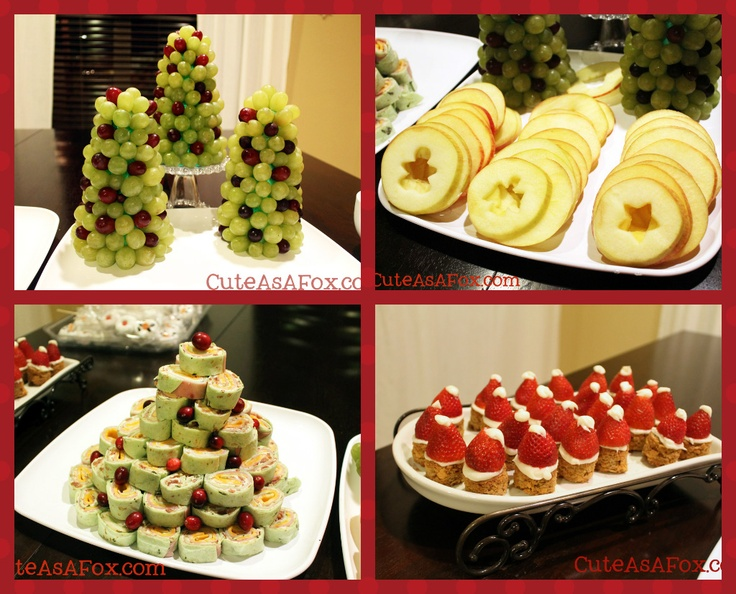 Christmas Themed Dinner at http://cuteasafox.com