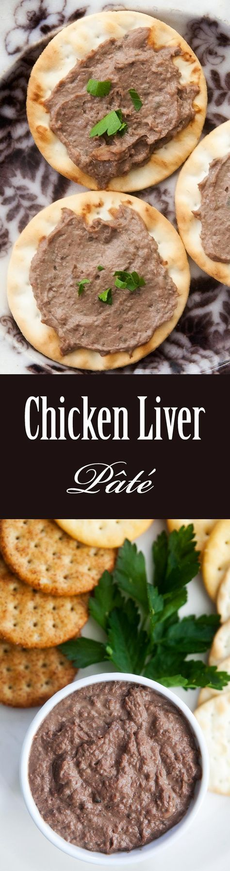 Easy and delicious Chicken Liver Pâté! Great to spread over crackers or toast. A perfect party appetizer. On SimplyRecipes.com