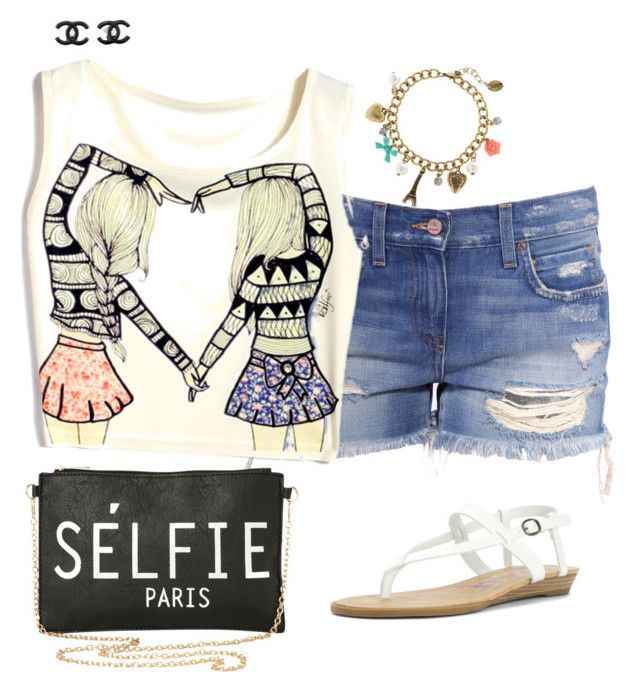 """""""Summer goal"""" by teomuki ❤ liked on Polyvore featuring мода, Blowfish, Torrid, claire's и Chanel"""